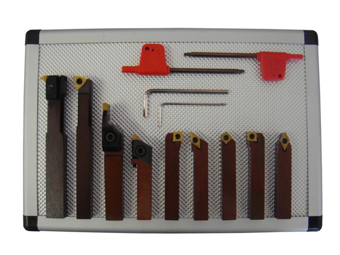 PAULIMOT Drehstahl-Set mit Wendeplatten 12 mm 7-teilig mit Bohrstange