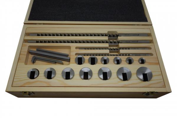 HSS-Räumnadel-Set für 4, 5, 6 und 8 mm Keilnuten