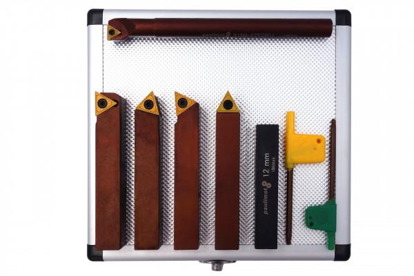 Drehstahl-Satz Drehmeißel-Set mit Wendeplatten, 16 mm, 5-teilig mit Bohrstang