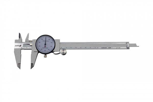 paulimot 21303 Messschieber mit Uhr 0-150 mm rostfrei INOX
