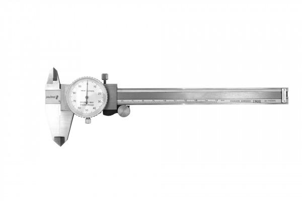 Messschieber Schieblehre mit Uhr 150 mm INOX