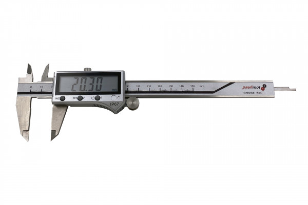 paulimot 21079 Messschieber digital 0-150 mm, rostfrei INOX, IP67_1