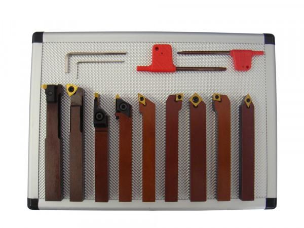 Drehstahl-Satz Drehmeißel-Set mit Wendeplatten, 9-teilig, 12 mm