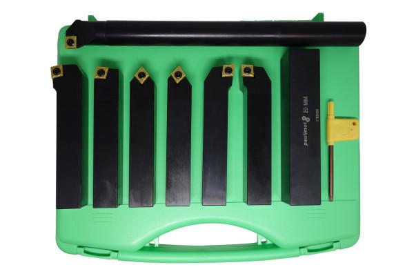 Koffer beschädigt: Drehstahl-Set mit Wendeplatten, 20 mm, 7-teilig mit Bohrstange