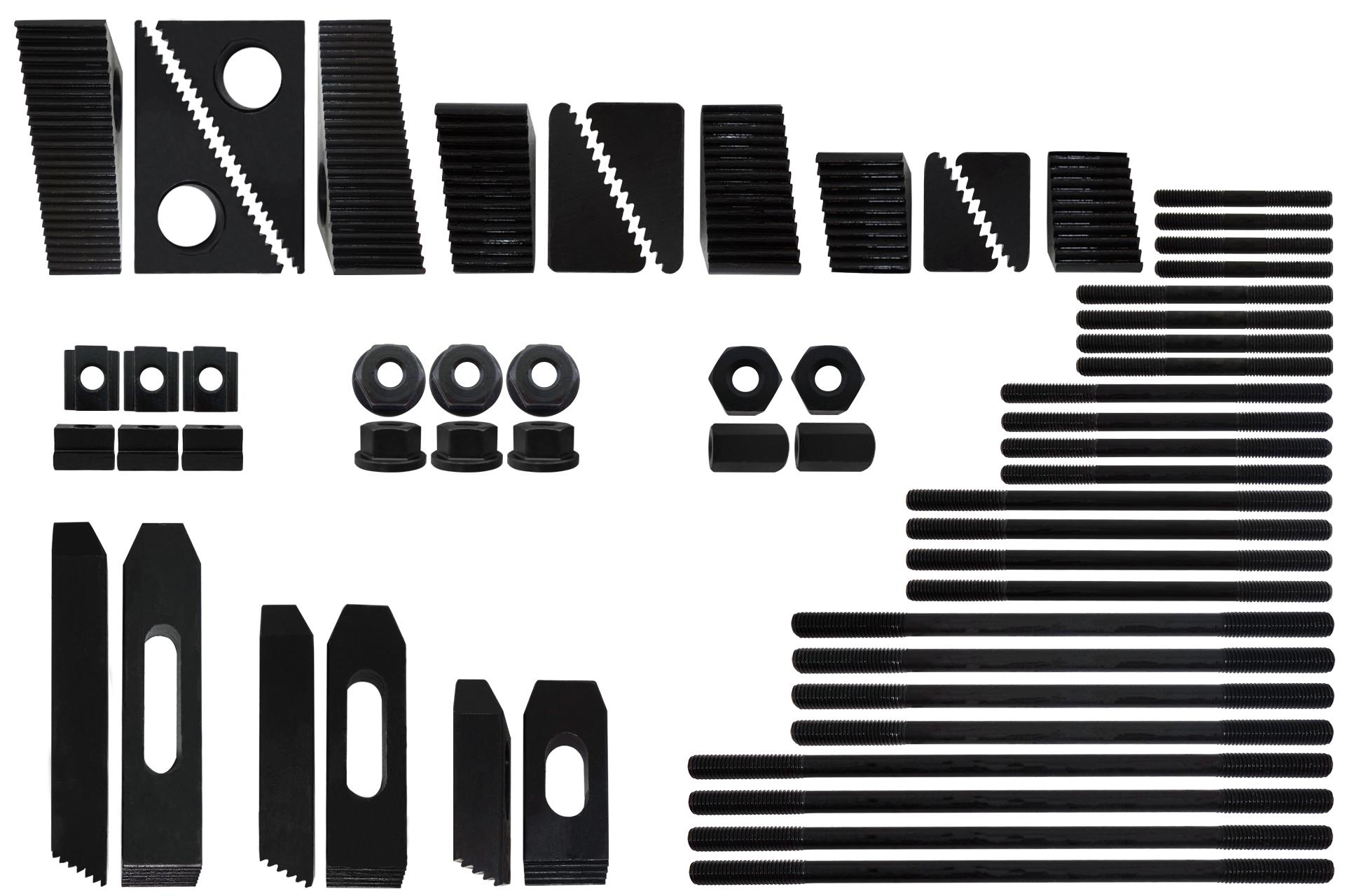 58 Teiliges Stufen Spannspratzen Set M6 Sorotec 8er Nut