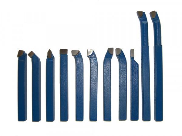 Drehstahl-Satz Drehmeißel-Set 11-teilig mit Hartmetallplatten P30, DIN4976, 8 x 8 mm